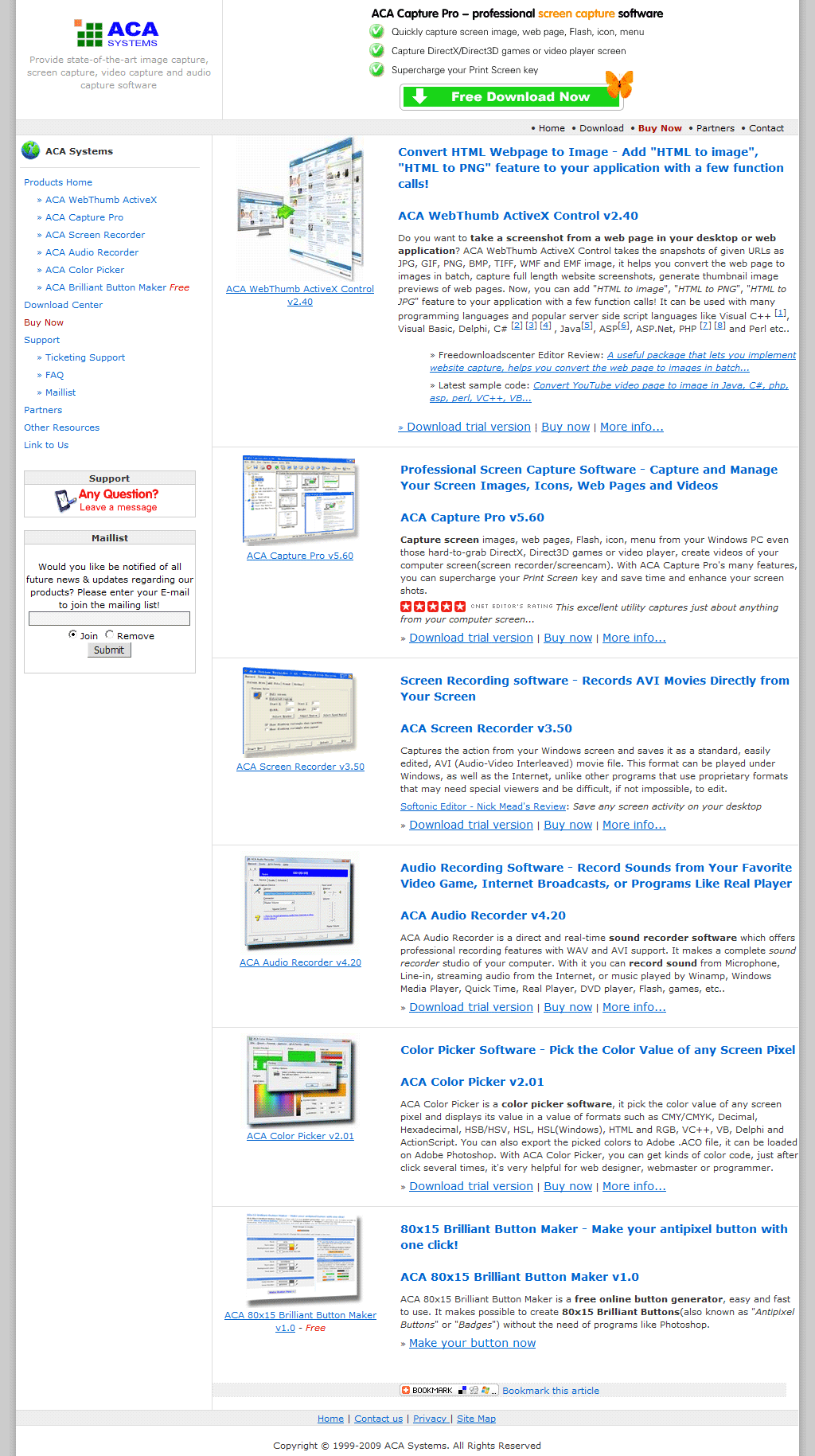 Click For Large Preview Convert Www Acasystem Web Page To Image