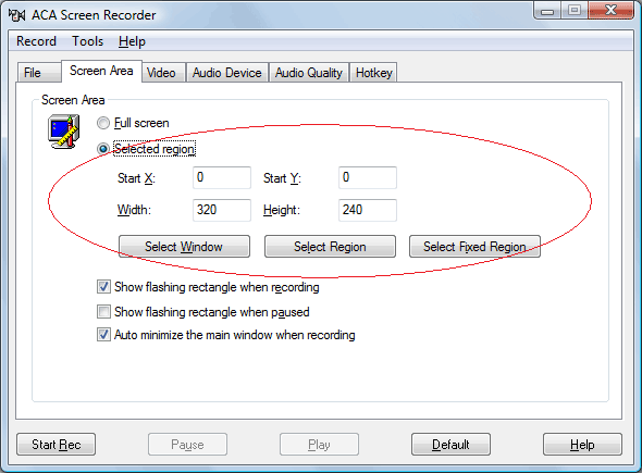 How to record screen activity: Decide whether you want to record the full entire screen, or just a section of it